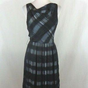 ANTONIO MELANI GRAY BLACK PLAID COCKTAIL DRESS 2